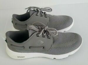 NEW-SPERRY-Mens-Seven-Seas-Mesh-Boat-Shoes-Size-6-5-Lace-Up-Gray-Sneakers-90