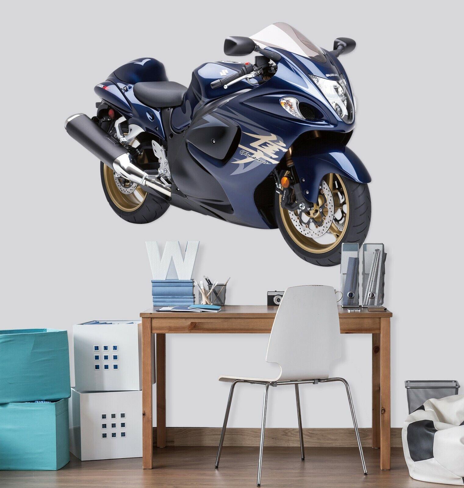 3D Suzuki Motorcycle B177 Car Wallpaper Mural Poster Transport Wall Stickers Wed