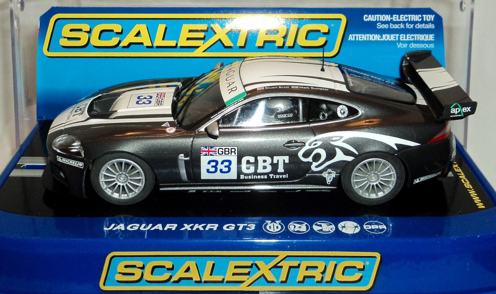 Scalextric C2978 Jaguar XKR GT3 Apex Racing Team Trabajo Luces Y SU READY 1 32