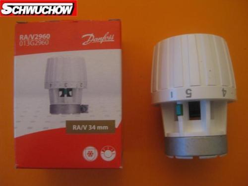 Danfoss Ra / V 2960 Élément de Captage 013G2960 34mm Tête Soupape Thermostatique