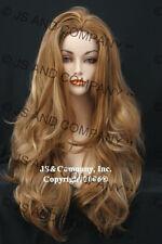 Super Long Layered WAVY Strawberry Blonde Mix WIG WAAS 27-613