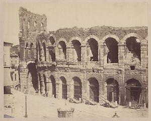 Verona Italia Foto Vintage Albumina Ca