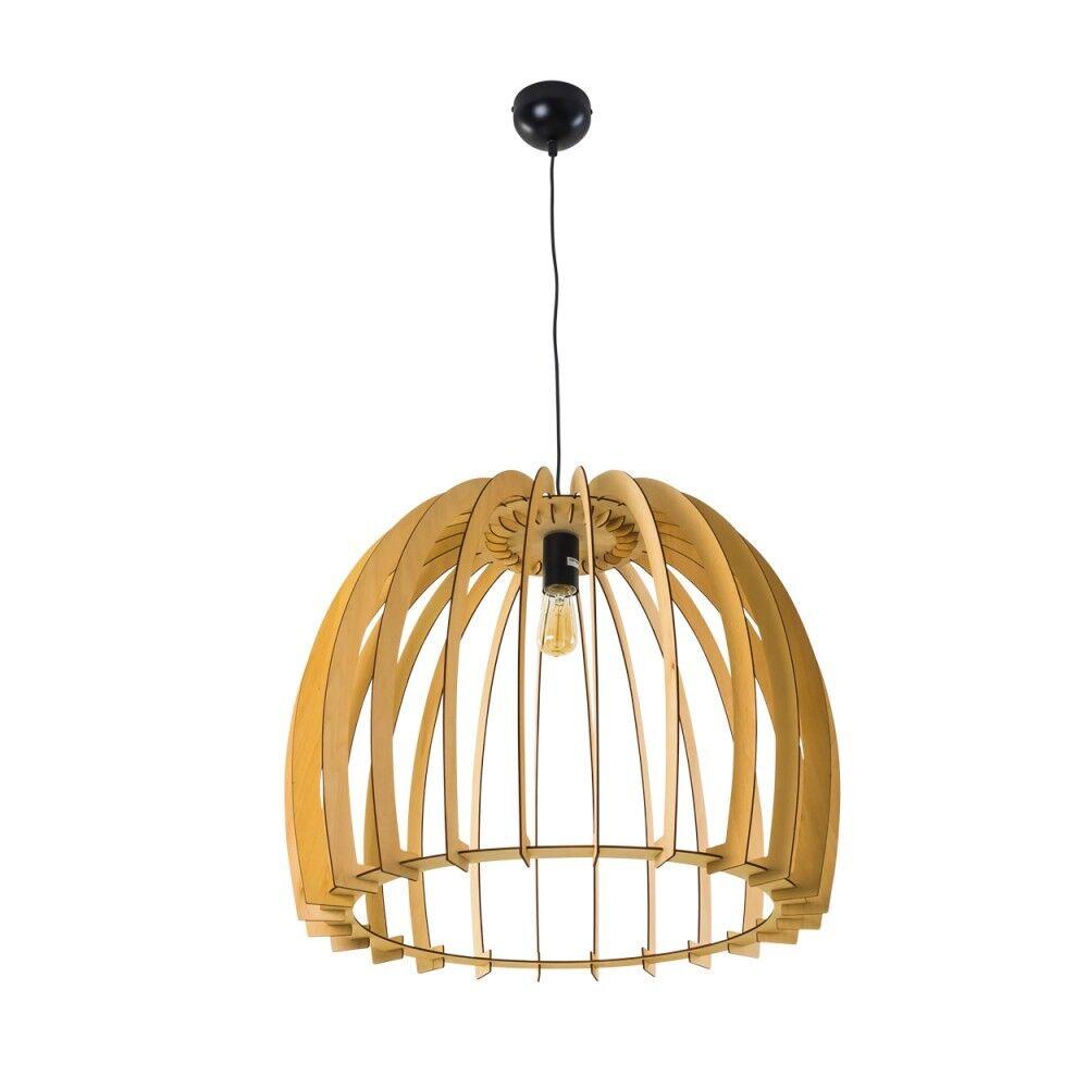 Lampe à suspension Plafonnier Retro Lustre de Design Lampe de Lustre bureau Bois 163016 a45ff5
