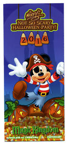 Details about 2016 Disney Magic Kingdom Park Map Mickey's Not So Scary  Halloween Party MNSSHP