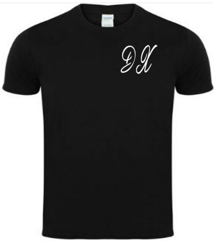 fast and free delivery Initals printed on t shirt