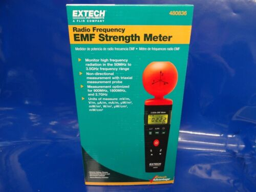 Extech 480836 EMF RF Forza Contatore High Frequency Measurement 50MHz a 3.5 GHz