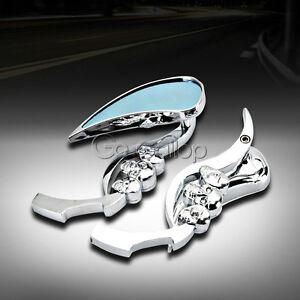 Chrome Motorcycle Side Mirrors Fit Kawasaki Vulcan 800 900 1500 1600 1700 2000