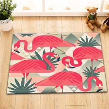 "16X24/""Flamingo Palm Bathroom Floor Decor Nonslip Door Rug Bath Mat Shower Carpet"