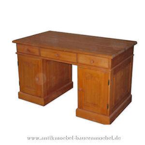 Schreibtisch-Arbeitstisch-Computertisch-PC-Tisch-Holz-massiv-Landhausstil-moebel