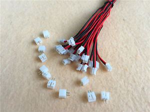 20-SET-JST-2-0mm-PH-2-Pin-Female-Connector-Plug-with-Wire-26AWG-amp-Male-Connector