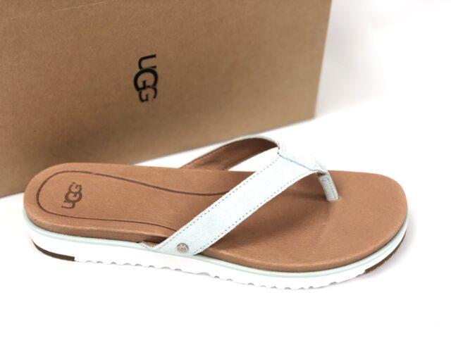 5199f1b8de9 UGG Australia Women's LORRIE Aqua Blue 1092271 Casual Suede Flip Flop  Sandals