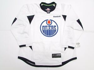 f9d10a5b7 Image is loading EDMONTON-OILERS-AUTHENTIC-WHITE-REEBOK-EDGE-PRACTICE -HOCKEY-