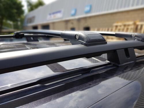 Compatible con Forester Bloqueable Negro barras cruzadas Barra Techo Rack 2008-2013 75 kg