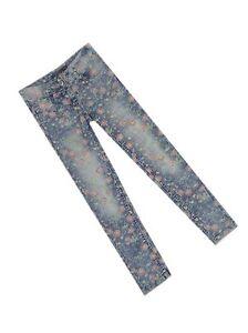 George-Floreale-Blu-Indaco-Jeans-Attillati-eta-5-6-7-8-10-12-14-16-NUOVA-vendita