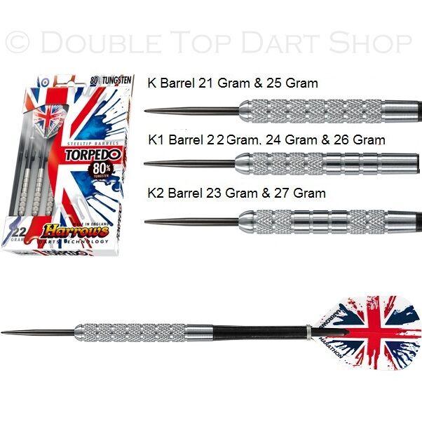 Harrows TORPEDO 25g Steel Tip Darts