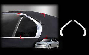 Chrome Window Sill C Pillar Molding Trim Cover 2p For 07 10 Hyundai Elantra HD