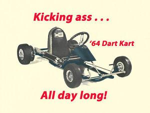 Details about Vintage With A Modern Twist 1964 Rupp Dart Kart Go-Kart Print