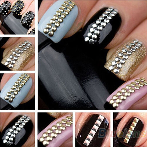 500pcs 3D Design Nail Art Decoration Stickers Metallic Studs Stud Good