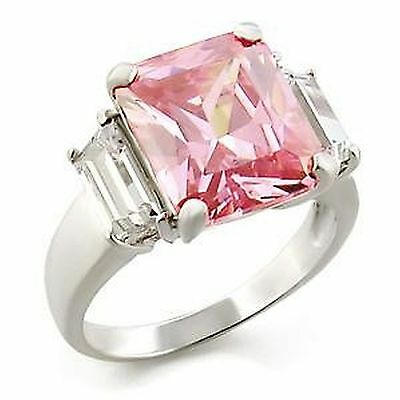Size H J R T 4 5 9 10 Beautiful Sterling Silver 925 Engagement Ring Pink L34102E