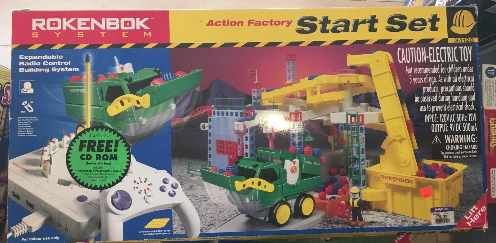 34120 Rokenbok Action Factory Start set HUGE SET   Nearly complete