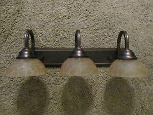 Lovely Oil Rub Bronze 12 Volt Vanity Light 3 Curve Arm