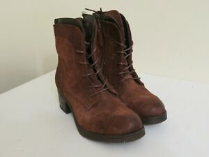 MIZ-MOOZ-SUEDE-LACE-UP-BOOTS-SLOANNE-BRANDY-BROWN-NEW-36-37-40-42