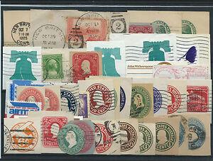 FRANCOBOLLI-1893-1980-STATI-UNITI-USA-LOTTO-RITAGLI-DI-INTERI-POSTALI-D-6051