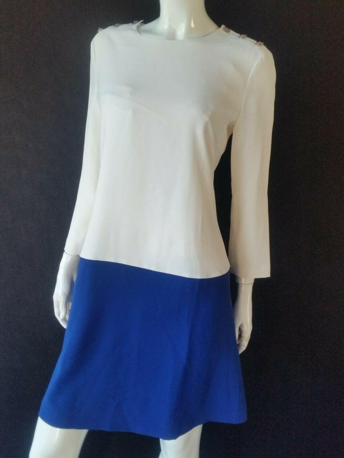 ARMANI JEANS Kleid weiß blau Chiaro Gr.IT44--D38 40 NEU mit Echtheitsnachweis