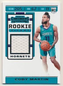 2019-20 Panini Contenders Rookie Ticket Swatches #21 Cody Martin Jersey