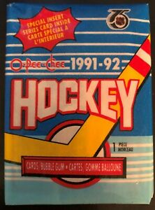1991-92-O-Pee-Chee-Unopened-Sealed-Pack-Of-Cards