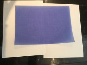 VELLUM 100gsm 20 x A4 BLUE Translucent Paper for Scrapbooking and Invitations