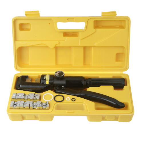 Hydraulic Crimper Tool Kit Terminal Lug Battery Cable Wire Crimping Force UK