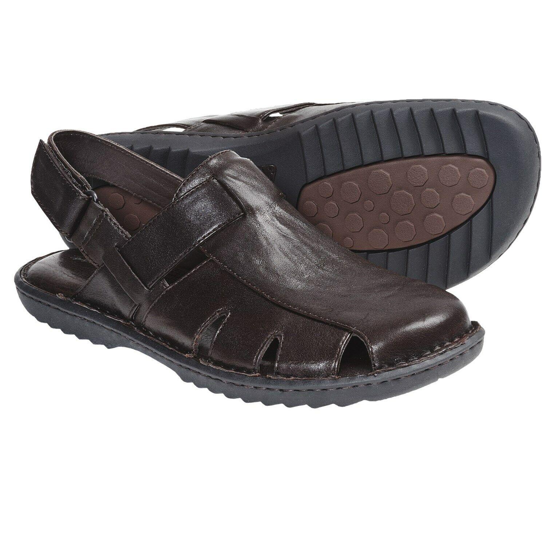 New  BORN Men Marronee Leather Casual Handcrafted Fisherman Sandal scarpe Sz 12 M  miglior reputazione