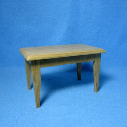Dollhouse Miniature Oak Rectangle Kitchen Dining Room Table ~ CLA03483