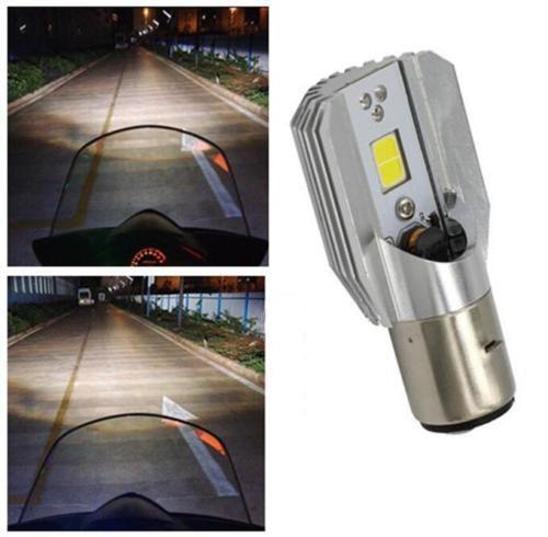 1* 6500K White BA20D LED Motorcycle Hi//Lo Beam Headlight Light Lamp Bulb LR