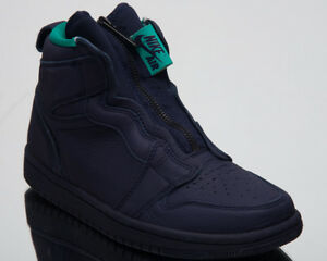 758e07c5343815 Air Jordan Women s 1 High Zip Lifestyle Shoes Blackened Blue ...