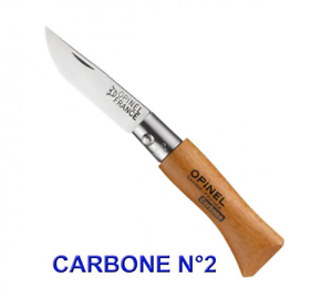 OPINEL-N-2-COUTEAU-LAME-CARBONE