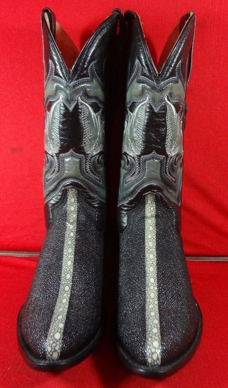 Herren  Leder STINgrau  Western Cowboy Stiefel   C92