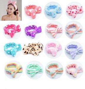 Big Bow Soft Fleece Hair Band Head Wrap Headband Bath Spa Make Up Shower Facial