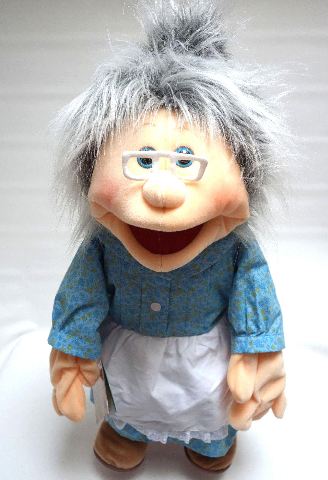 Living Puppets mano muñeca abuela abuela aprox. 65 cm de nuevo