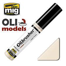 OILBRUSHER - LIGHT FLESH - Oil Paint w/Brush 10ml Bottle - AMMO of MIG 3519