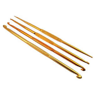 4pcs-7sizes-Golden-yellow-Aluminum-Crochet-Hooks-2-0-8-0