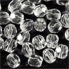 Facettes de Bohème 4mm Cristal Lot de 50 perles