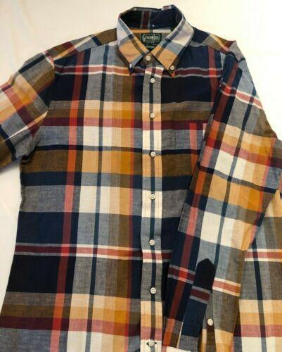 Gitman Vintage Long Sleeve Madras Shirt - Large
