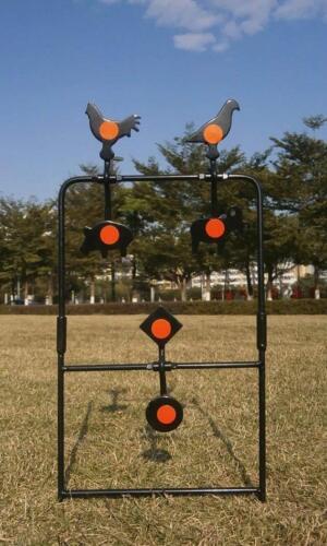 Self Réinitialisation 6 animaux cibles Air Gun Rifle autoportante Set