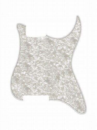 Pickguard E-Gitarre ML-Factory® Standard 11-Loch 3-ply White Pearl ohne Fräsung