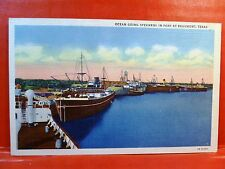 Postcard TX Beaumont Ocean Going Steamer Ships  in Port at Beaumont Texas