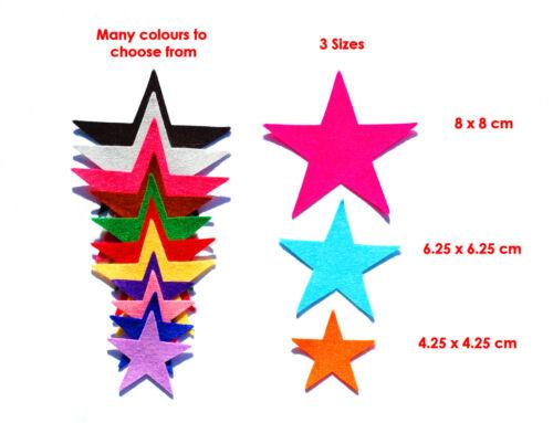 Die Cut Felt Stars Small Medium Large  Embellishment Xmas Christmas Yellow