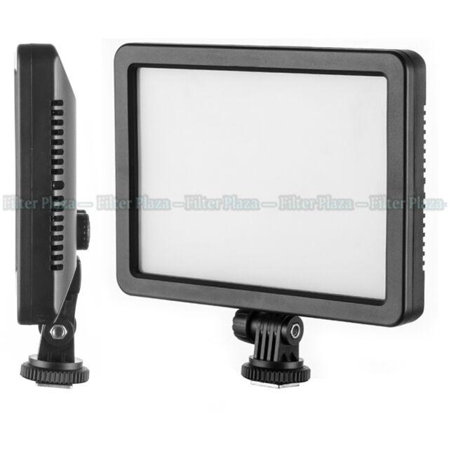 Pro Ultra Thin 128-LED Video Light Pad for Canon Nikon DSLR Camera DV Camcorder