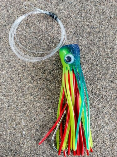 Mold Craft SUPER CHUGGER trolling lure SKIRTED//RIGGED 6//0 Mustad Free Ship 2nd+